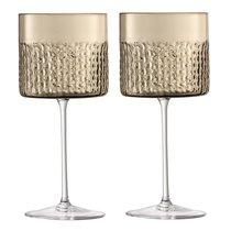 Набор из 2 бокалов для вина Wicker 320 мл коричневый - LSA International