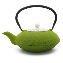 Чайник заварочный Bredemeijer Yantai 1,2л, с фильтром, чугун, с фарфоровой крышкой, зеленый - Bredemeijer