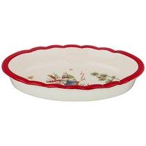 Блюдо-Шубница Зимняя Забава 28x17x5 см - Huachen Ceramics