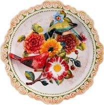 Тарелка Декоративная Настенная Птички Диаметр 32 см Высота 6 см - Hebei Grinding Wheel Factory