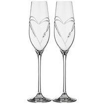 Набор Бокалов Для Шампанского Из 2 Штук Love Heart 220 мл - Diamante