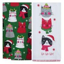 "Полотенце кухонное Kay Dee Designs ""Рождественские котята"" 41х66см, хлопок, набор 2 шт - Kay Dee Designs"