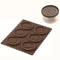 Форма для приготовления печенья Easter Slim силиконовая - Silikomart
