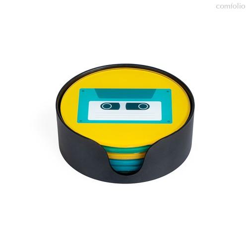 Подставки под стаканы Music 6 шт., цвет разноцветный - Balvi