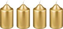 Набор Свечей Из 4 шт. 8x4 см Золотой Металлик - Adpal