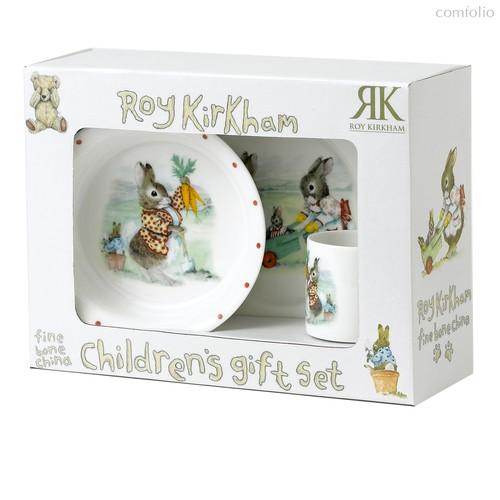 Кролики (набор 3 пр салатник, тарелка, чашка) - Roy Kirkham
