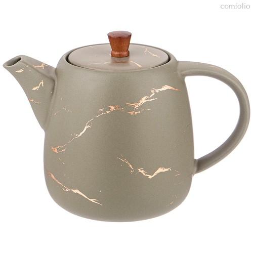 Чайник Заварочный Коллекция Золотой Мрамор Цвет:Gray 850 Mл - Porcelain Manufacturing Factory