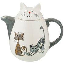 Заварочный Чайник Коллекция Озорные Коты 1000 мл 19,5x12,5x17,6 см - Hongda Ceramics