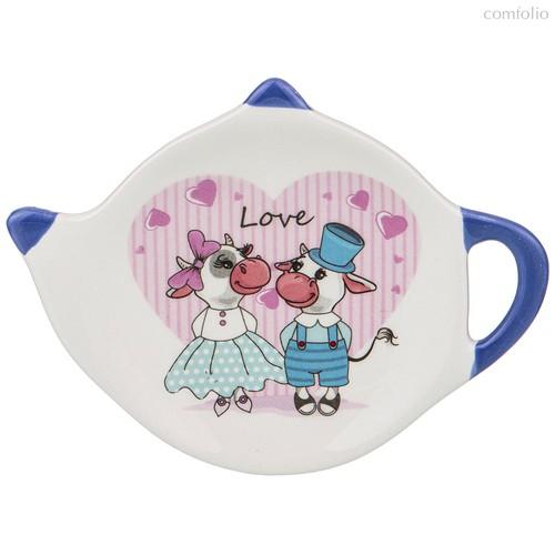 Подставка Под Чайные Пакетики 12x8,5x1,5 см. - Huachen Ceramics