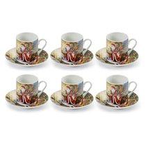 """Набор кофейных чашек с блюдцами """"Сюрприз.Дарю радость"""", на 6 персон, п/к - Lamart"""