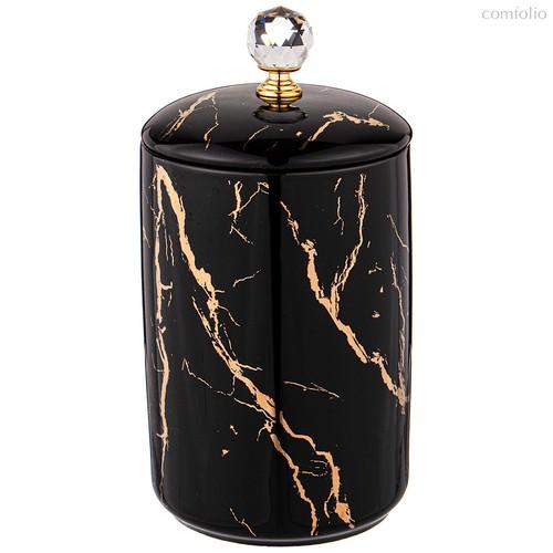 Банка с крышкой Lefard Fantasy 18 см Черная - Towin Ceramics