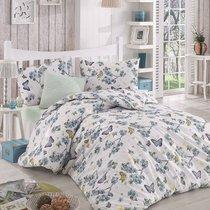 Постельное белье Ranforce Butterfle, цвет голубой, размер 1.5-спальный - Altinbasak Tekstil