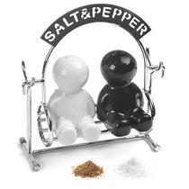 Солонка и перечница Salt&Pepper, цвет черный - Balvi