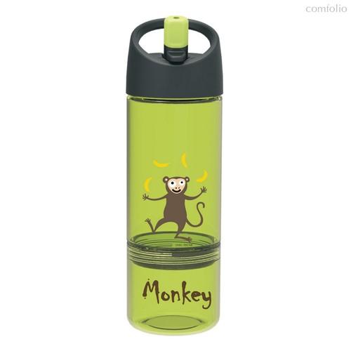 Детская бутылка 2в1 Carl Oscar Monkey лайм, цвет лайм - Carl Oscar