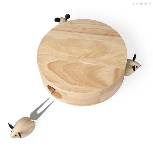 Набор доски и приборов для сыра I Love Cheese, цвет бежевый - Balvi