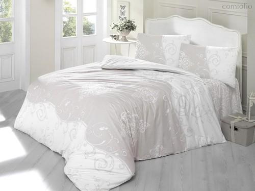 Постельное белье Ranforce Melina, цвет кофейный, размер Евро - Altinbasak Tekstil