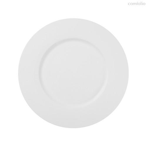 Тарелки с широким римом 22 см, цвет белый - Top Art Studio