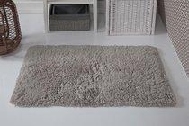 "Коврик для ванной ""MODALIN"" с бахромой BOLIV 50x80 см 1/1, цвет коричневый, 50x80 - Bilge Tekstil"