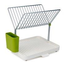 Сушилка для посуды и столовых приборов 2-уровневая со сливом Y-rack белый-зеленый - Joseph Joseph