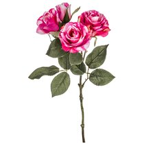 Цветок Искусственный Розовая Роза Длина 38см - Silk-ka
