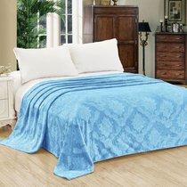 """Плед Cleo """"ПАРМА"""" велсофт евро 200*220 200/147-OP, цвет голубой, 200 x 220 - Cleo"""