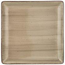Тарелка Обеденная Квадратная Nature 25 см,Серая 2 шт. - Porcelain Manufacturing Factory