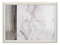 Поднос с подушкой Мраморный мотив 44х34 см - Creative Tops