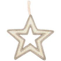 Подвесказвезда с Жемчугом Цвет: Rose Gold Диаметр 30 см - Polite Crafts&Gifts