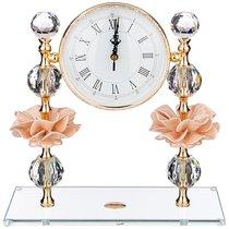 Часы Настольные Delicate Flower 30x12 см Высота 31 см Циферблат 14,5 см - Claret di Annamaria Gravina