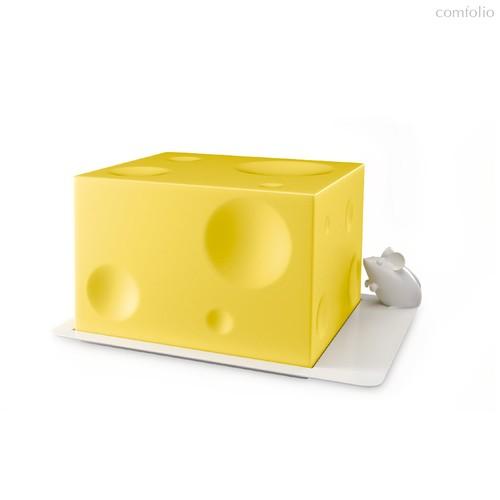 Сырница I Love Cheese, цвет желтый - Balvi