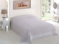 "Простыня махровая ""KARNA"" PETEK 160x220 см, цвет серый - Bilge Tekstil"