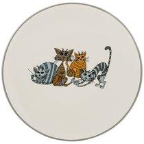 Тарелка Десертная Коллекция Озорные Коты Диаметр 20 см Высота 2 см - Hongda Ceramics
