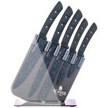 Набор Ножей Agness На Пластиковой Подставке, 6 Предметов - Kitchen King