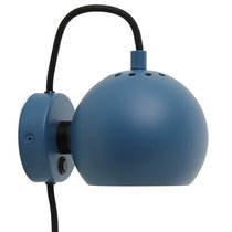 Лампа настенная Ball, d12 см, синяя матовая - Frandsen