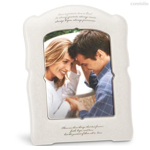 """Рамка для фото Lenox """"Чистый опал.Любовь-это терпение"""" 37см - Lenox"""