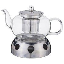 Чайник заварочный Agness С Фильтром Из Нжс И Подставкой Для Подогрева 800 мл - Dalian
