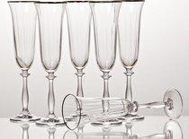 Набор бокалов для шампанского из 6 шт. АНЖЕЛА ОПТИК 190 мл ВЫСОТА 25 см . - Crystalex