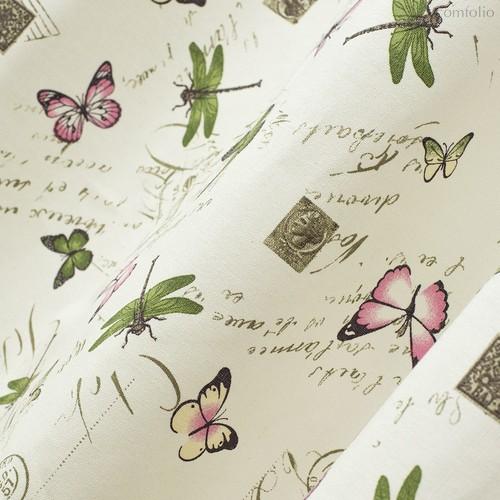 Ткань хлопок Бабочки ширина 280 см/ 20529/1, цвет разноцветный - Altali