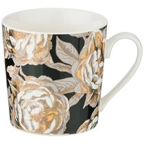 Кружка Golden Rose 400 мл, Черная - Porcelain Manufacturing Factory