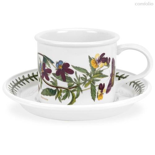 "Чашка для завтрака с блюдцем Portmeirion ""Ботанический сад. Фиалка трехцветная"" 260мл - Portmeirion"