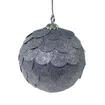 Шар новогодний декоративный Paper ball, серебрянный - EnjoyMe