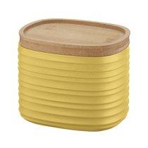 Емкость для хранения с бамбуковой крышкой Tierra 500 мл желтая - Guzzini