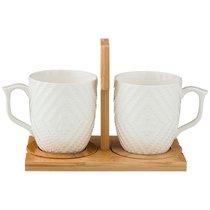 Набор Из 2-Х Кружек Native 380 мл На Подставке - Yinhe Ceramics