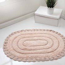 Коврик для ванной Yana, кружевной, цвет персиковый, 60x100 - Bilge Tekstil