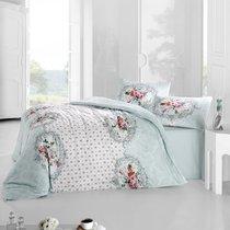 Постельное белье Ranforce Mira, цвет голубой, размер Евро - Altinbasak Tekstil