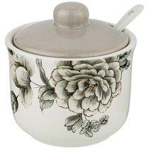 Сахарница С Ложкой Вдохновение 10x10 см Высота 9,5 см / 300 мл - Huachen Ceramics