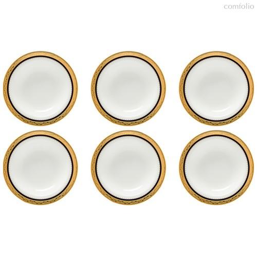 """Набор чаш для десерта Noritake """"Одесса Кобальт,золотой кант"""" 15,5см, 6шт, - Noritake"""
