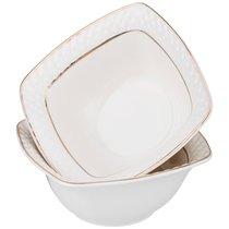 Набор Из 2 Салатников Диаманд Голд Квадрат 11 см - Shunxiang Porcelain
