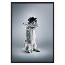 Кролик с тростью, 21x30 см - Dom Korleone