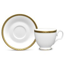 Чашка чайная с блюдцем Noritake Шарлотта Голд 240мл - Noritake